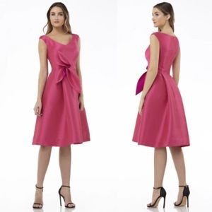 Kay Unger Chloe Mikado Cocktail Dress in Pink 12